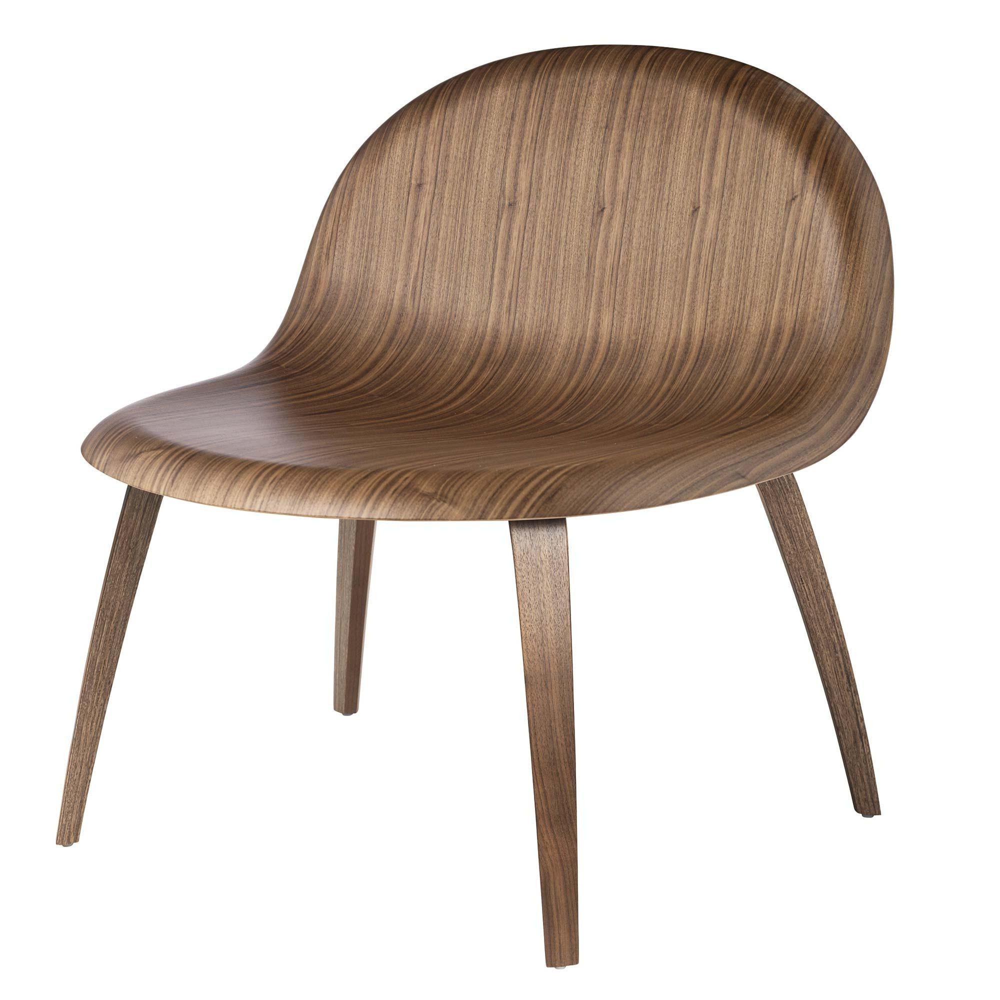Gubi 3D Lounge Chair Sessel mit Holzgestell | AmbienteDirect