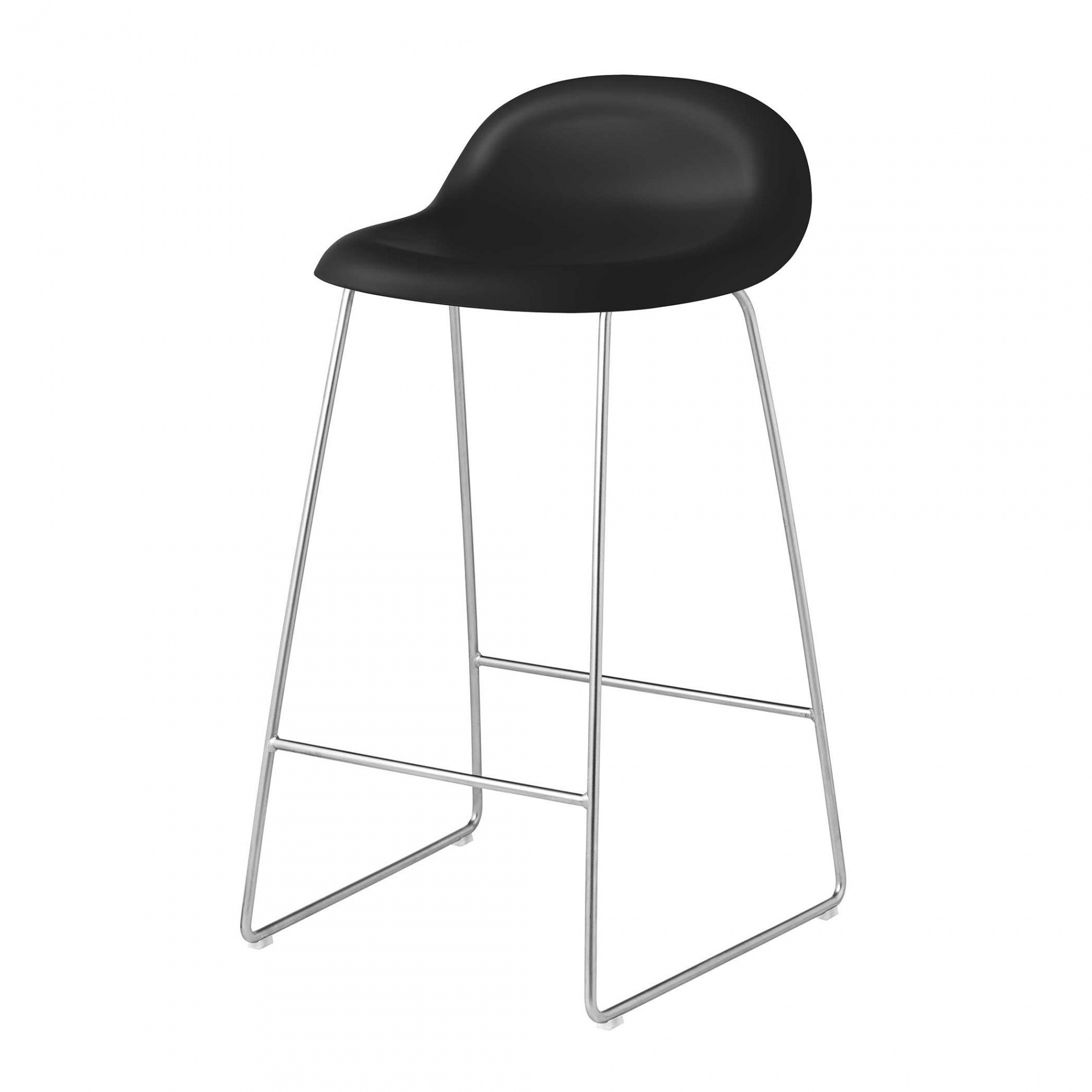 Gubi 3d Counter Stool With Chrome Sledge Base Ambientedirect