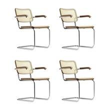 Thonet - Set de 4 silla cantilever Thonet S 64 Promoción