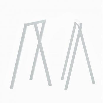 HAY - Loop Stand Tischböcke 2 Stück - weiß/H: 72cm/64,5x37cm