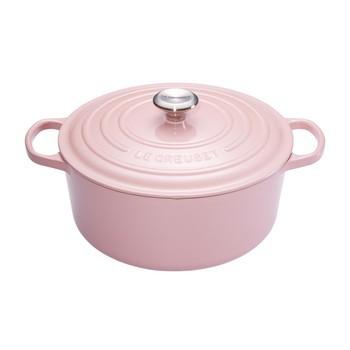 Le Creuset - Limited Edition Signature Bräter rund Ø24cm - pink/backofengeeignet/für alle Herdarten geeignet