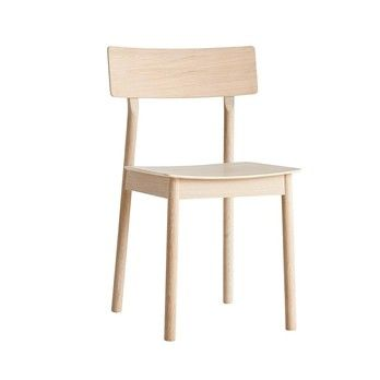 Woud - Pause Dining Stuhl - eiche/weiß pigmentiert