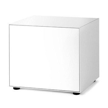 Piure - Nex Pur Box Türbox 60x52.5x48cm - weiß/MDF matt lackiert/mit Gleitfüßen