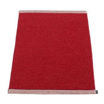 pappelina - Mono Fußmatte 60x85cm - dunkelrot - rot/gewebt/Kante umgenäht/für Innen- und Außenbereich geeignet