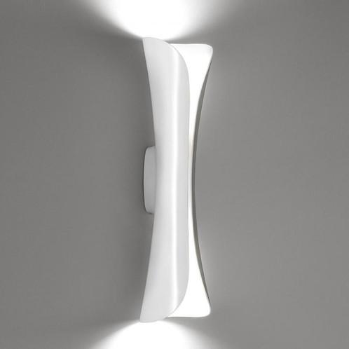 Artemide - Cadmo LED Parete Wandleuchte - weiß/Stahl/lackiert/3000K/LxBxH 13x13x76cm