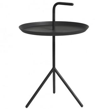 HAY - DLM XL Beistelltisch - schwarz/Ø48.2cm/Höhe Ablage: 49,5cm