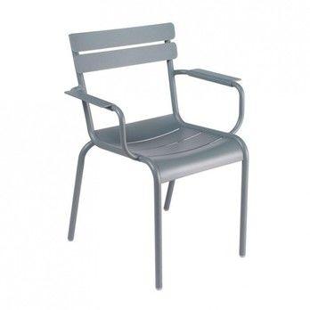 Fermob - Luxembourg Armlehnstuhl - gewittergrau/lackiert