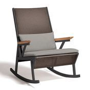 Kettal - Vieques - Fauteuil à bascule - grey/incl. seat-back cushion/frame dark grey manganese