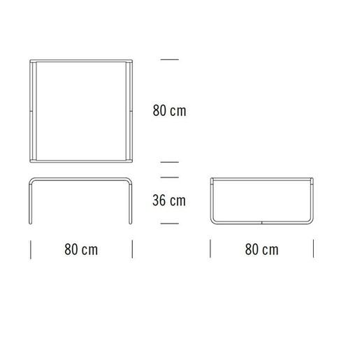 Thonet - Thonet B20 Couchtisch/Beistelltisch - Strichzeichnung