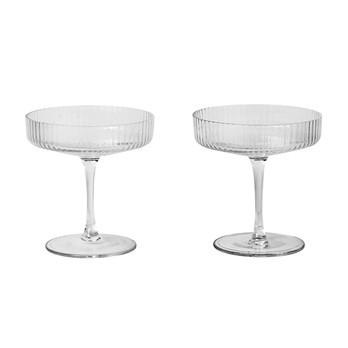 ferm LIVING - Ripple Champagner Gläser Set 2er Set