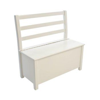 Kinderbunt - Nils Bench - white/lacquered