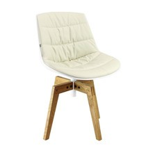 MDF Italia - Flow Chair With Oaken Legs Upholstered