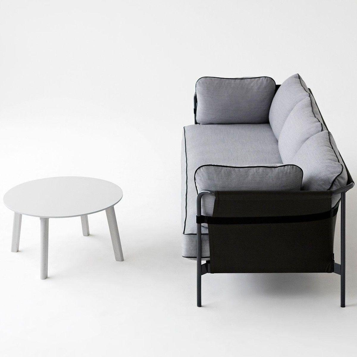 Hay Bettwäsche can 3 sitzer sofa gestell schwarz hay ambientedirect com