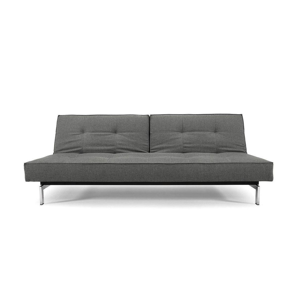 splitback sofa bed chrome  innovation  ambientedirectcom - innovation  splitback sofa bed  greyfabric  flashtex dark greyframechrome