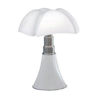 Martinelli Luce - Pipistrello LED Tischleuchte dimmbar - weiß/lackiert/H: 66-86 Ø55/2700K 1400lm