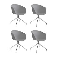HAY - Set de 4 sillas giratorias About a Chair 20