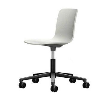 - HAL Studio Drehstuhl - weiß/Sitzfläche weiß/BxHxT 47x74x49cm/Gestell schwarz/mit weichen Rollen