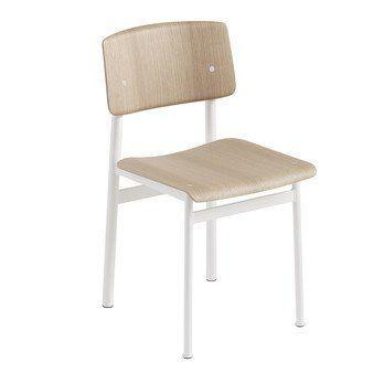 Muuto - Loft Chair Stuhl - weiß/eiche/Sitzfläche Eiche/Lieferbar ab November/Gestell Stahl weiß: pulverbeschichtet