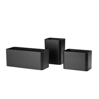 String - String System Aufbewahrungsboxen 3er Set  - schwarz/3 Stück