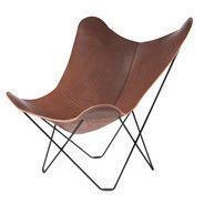 cuero - Pampa Mariposa Butterfly Chair  - dark brown/Chocolate 67/frame black
