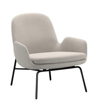 Normann Copenhagen - Era Lounge Sessel Stahl Gestell - creme Stoff Fame 60005/Gestell Stahl schwarz lackiert/H x B x T: 77 x 72 x 72cm