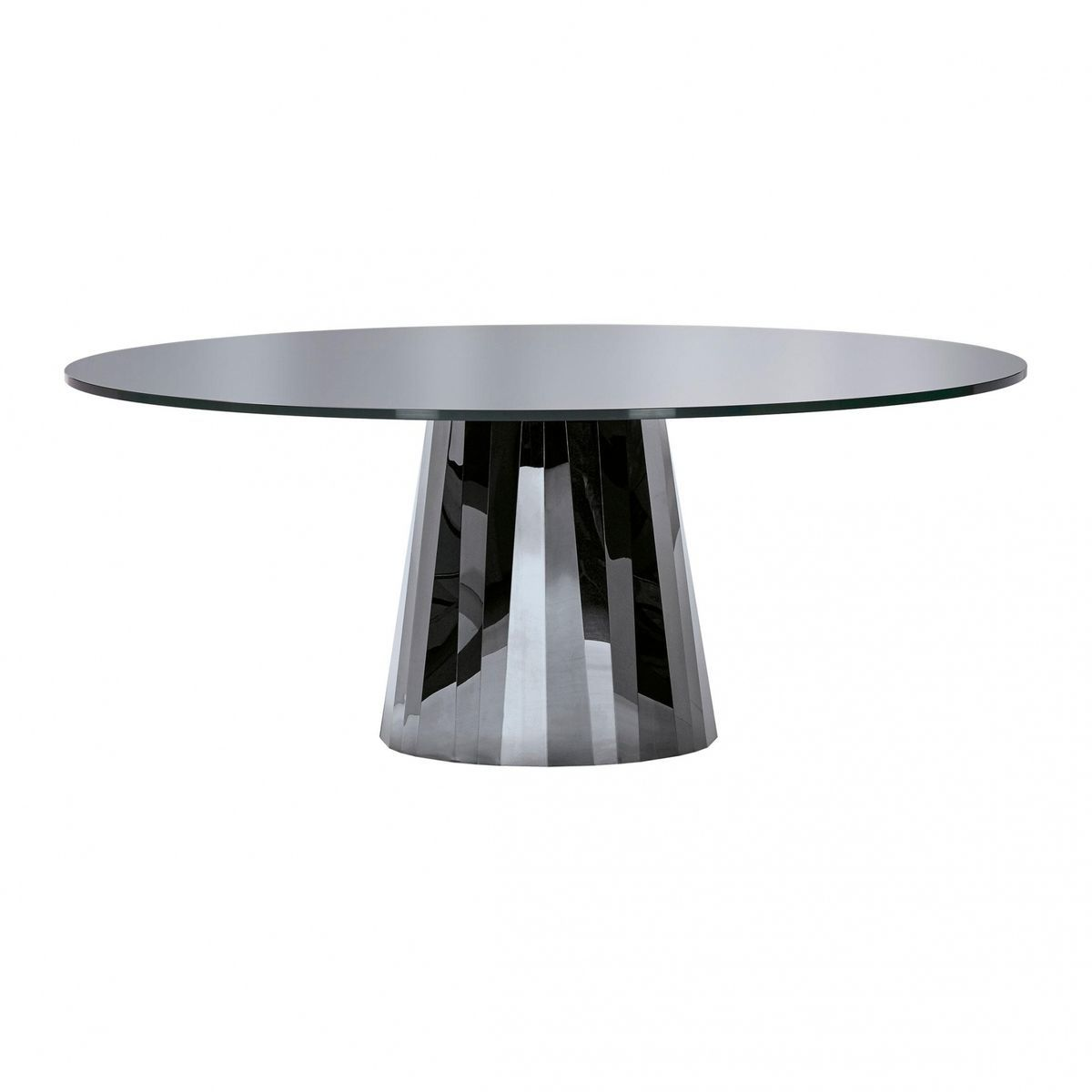 Pli Dining Table Table Top Lacquered   Onyx Black/tabletop Fully Colour  Lacquered