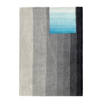 HAY - S&B Colour Carpet Teppich 06 - schwarz/blau/170x240cm