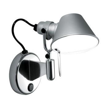Artemide - Tolomeo Micro Faretto Wandleuchte - aluminium/eloxiert/poliert/mit Schalter