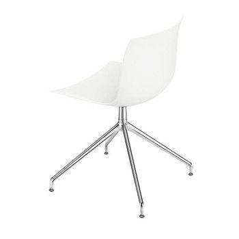 Arper - Catifa 53 2054 Drehstuhl Gestell Aluminium - weiß/matt