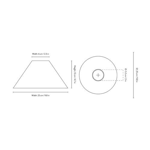 ferm LIVING - Cone Shade Lampenschirm - Strichzeichnung