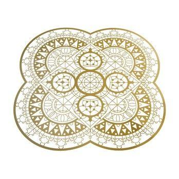 Driade - Italic Lace Round Placemat Untersetzer - gold/LxB 34x34cm