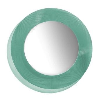 Kartell - Kartell by Laufen All Saints LED Spiegel  - aquamarin grün/transparent/Ø78cm/Neue Farbe!