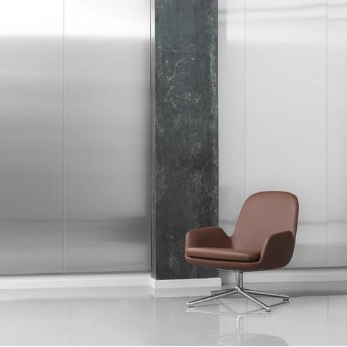 Normann Copenhagen - Era Lounge Chair Low Drehstuhl Leder Alu