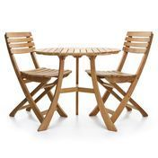 Skagerak - 1 Vendia Table + 2 Vendia Garden Chairs - teak/table Ø 75cm