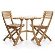 Skagerak - 1 Vendia Tisch + 2 Vendia Gartenstühle - teak/Tisch Ø 75cm