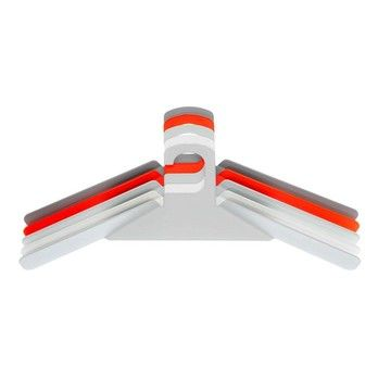 Schönbuch - Kleiderbügel 0200 Set - weiß RAL 9010/leuchtrot Pantone 806M/Grautöne RAL 9018 / RAL 7042 / RAL 7047/Set aus 5 Bügeln