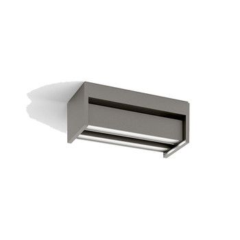 - Slat LED Wandleuchte - space gray/matt/3000K/880 lm/H x B x T: 9.6 x 22 x 8,1cm