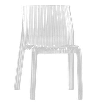 Kartell - Frilly Stuhl - weiß/durchgefärbt
