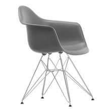 Vitra - Chaise avec accoudoirs Eames DAR chromé