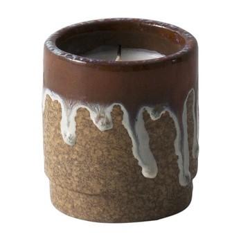 ferm LIVING - Scented Candle Running Duftkerze - rot/Feigenduft/Brennzeit bis zu 70 Stunden/H 10cm/Ø 9cm
