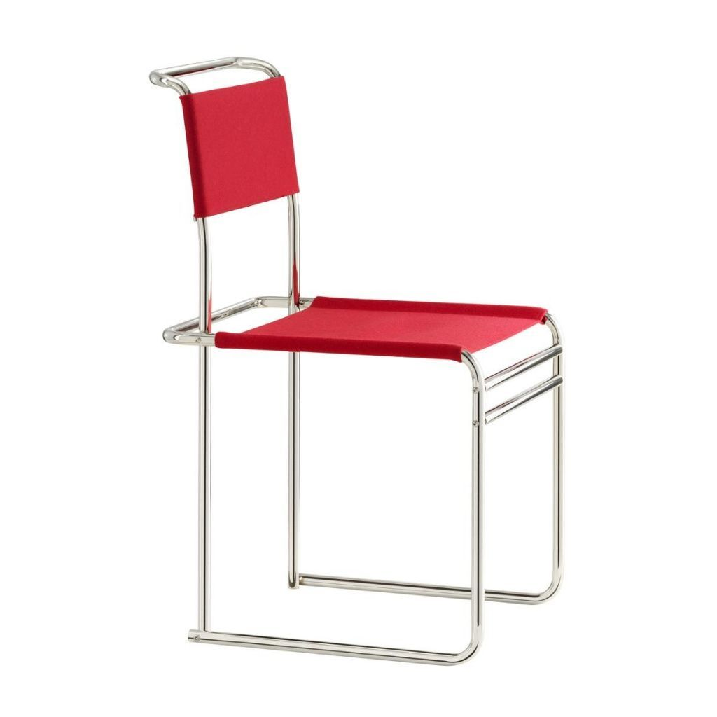 tecta tecta b40 breuer chair redfabric cavalry clothsteel frame