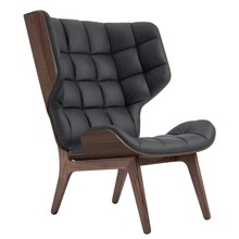 NORR 11 - Mammoth Lounge Chair Leather Dark Stained Oak Base