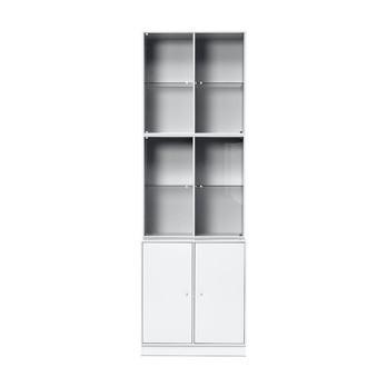 Montana - Rise Vitrinenschrank H: 211,8cm - new white 101/lackiert/Jedes Element mit Einlegeboden/211,8 x 69,6 x 46,8cm
