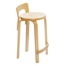 Artek - K65 High Chair Clear Lacquered Base