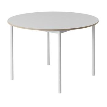 Muuto - Base Tisch Ø110cm  - weiß/Laminat/Gestell weiß lackiert/H 73cm