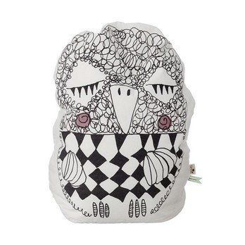 ferm LIVING - Olivia Owl Beanbag - black/white/care instructions on the cover/30° cold wash/H: 60cm