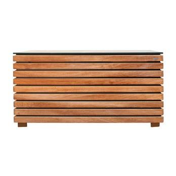 Conmoto - Forte Kissentruhe M - natur/anthrazit/Kambala-Holz (Teak ähnlich)/128x62x58cm