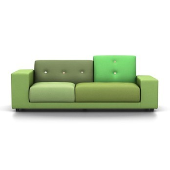 Vitra - Polder Compact Sofa - Stoffmix grün/LxBxH 225x97x82cm