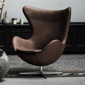 Fritz Hansen - Limited Edition Egg Chair/Das Ei Loungesessel - schokobraun/Leder Elegance/Gestell aluminium/Exklusiv nur bei AmbienteDirect.com!
