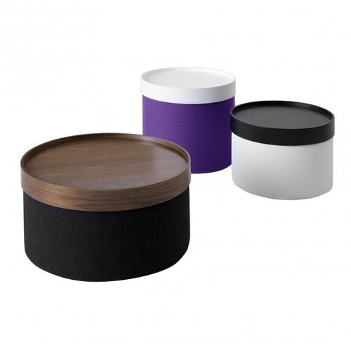 Softline - Drum Hocker / Beistelltisch S